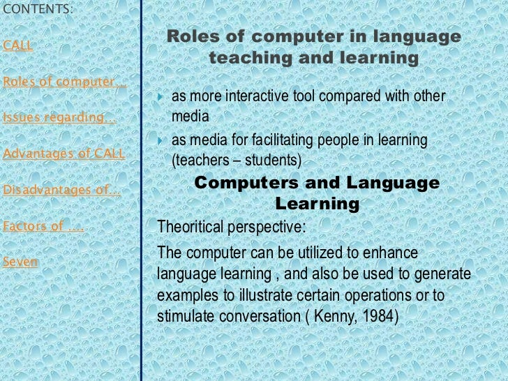 computer assisted language learning pdf