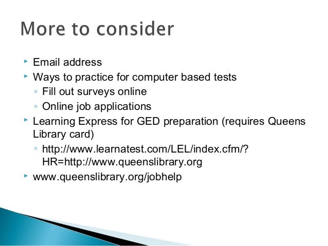 Computer Basics And The New GED