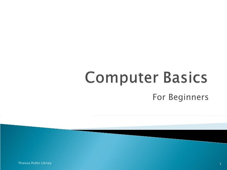 For Beginners Theresa Public Library