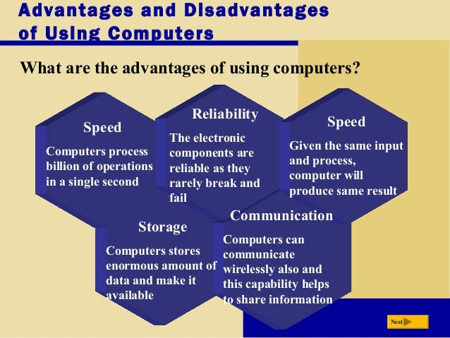 what are the advantages of using computer