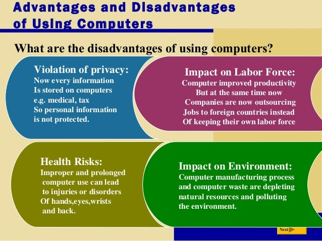 Advantages and disadvantages of information systems