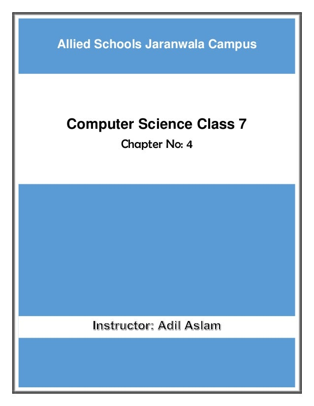 Computer Science Class 7 Chapter 4 Solution