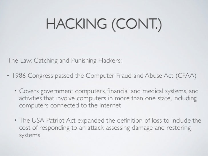 the definition of computer crimes and hacking Hacking definition - hacking generally refers to unauthorized intrusion into a computer or a network the person engaged in hacking activities is.