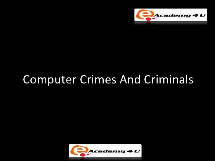 Comparison between computer crime and computer