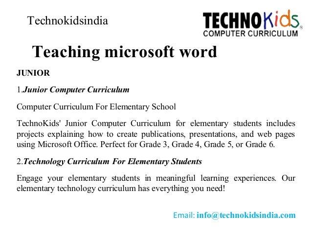 microsoft word curriculum
