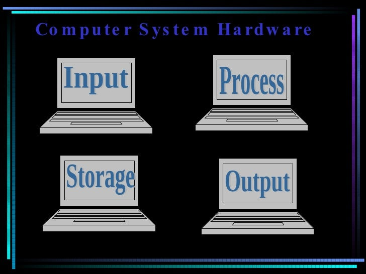 Computer System Hardware Input Process Storage Output