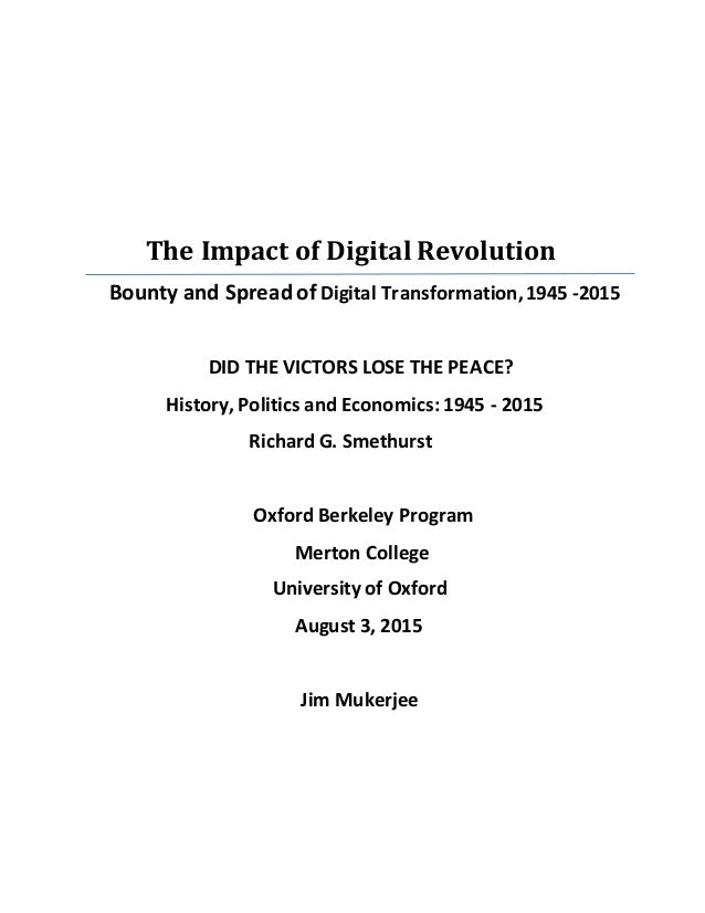 Impact Of Digital Revolution On American Society