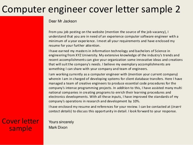 Marvelous Computer Engineer Cover Letter ...