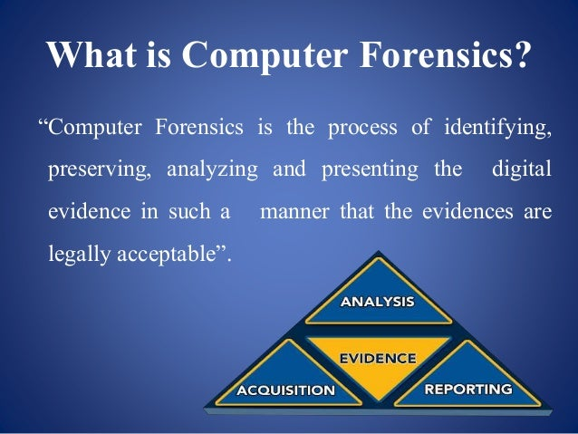 forensic computing Computer forensic services is a highly trained team with formal investigative experience, evidence handling methods, and unparalleled testimony experience.