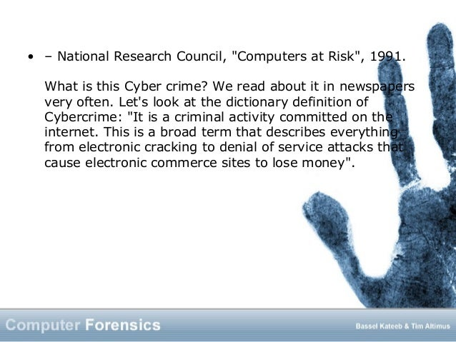 forensic computing essay This certificate program provides a depth of knowledge in computer forensic tools  and techniques as well as a foundational underpinning in the field of.