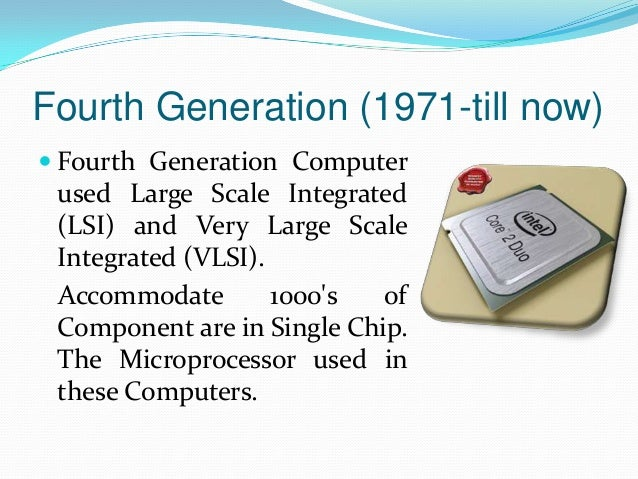 an introduction to the fifth generation computers In 1981, ibm introduced its personal computer (pc) for use in the home, office  and  the most famous example of a fifth generation computer is the fictional.