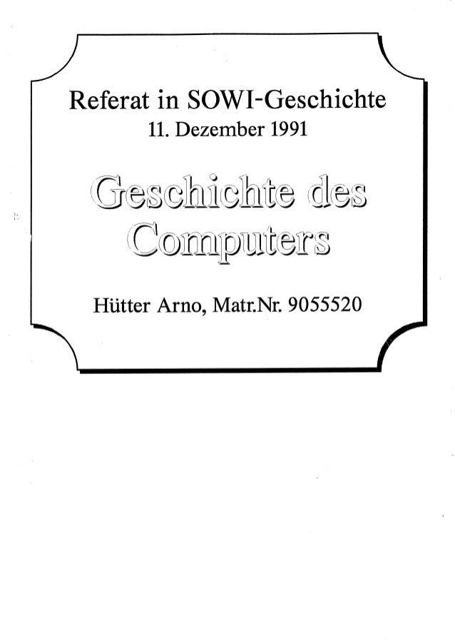 Geschichte des Computers (1991)