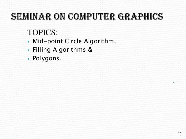 Line Drawing Algorithm In Computer Graphics Slideshare : Computer graphics