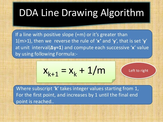 Dda Line Drawing Algorithm For Negative Slope In C : Computer graphics presentation