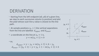Computer graphics - bresenham line drawing algorithm