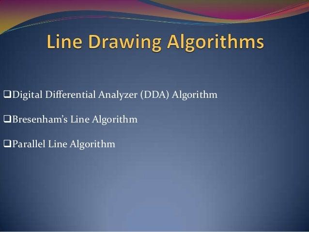 Line Drawing Algorithm Bresenham Code C : Chapter output primitives