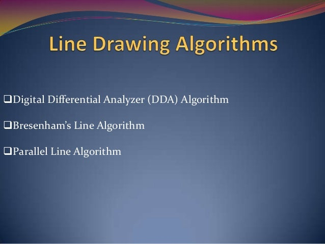 Bresenham Line Drawing Algorithm With Example Pdf : Chapter 3 output primitives