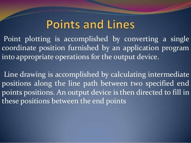 Introduction To Line Drawing Algorithm : Chapter 3 output primitives