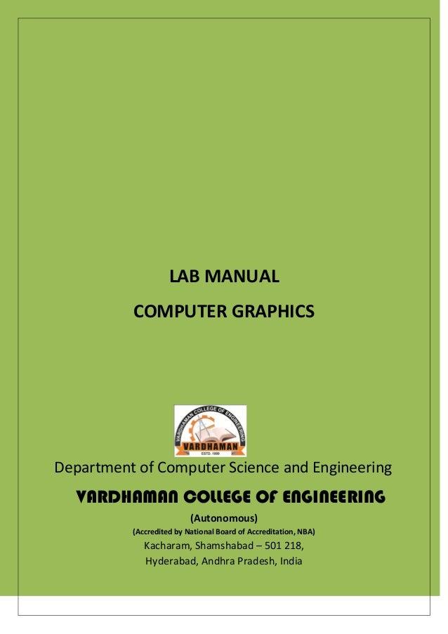 computer graphics lab manual rh slideshare net