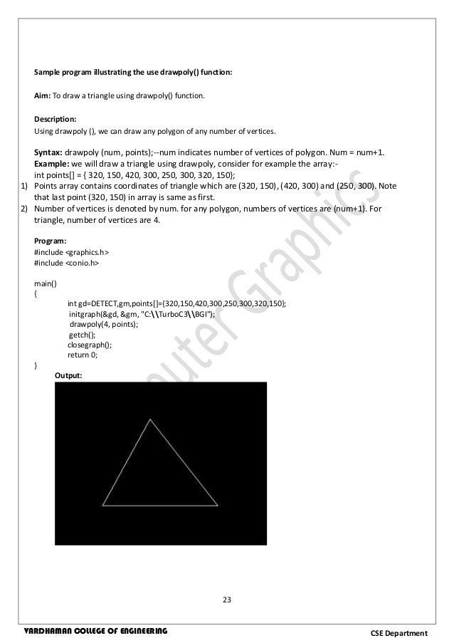 Computer Graphics Lab Manual