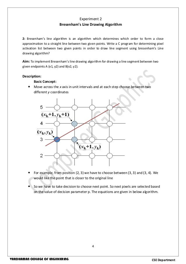 Dda Line Drawing Algorithm Full Form : Computer graphics lab manual