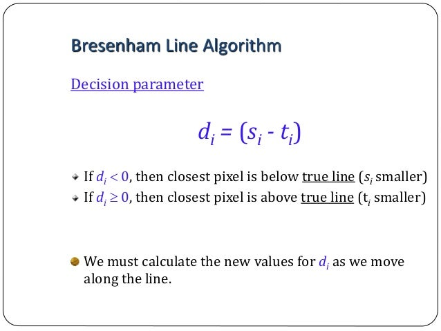 Generalized Bresenham S Line Drawing Algorithm Example : Computer graphics bresenham s line drawing algorithm