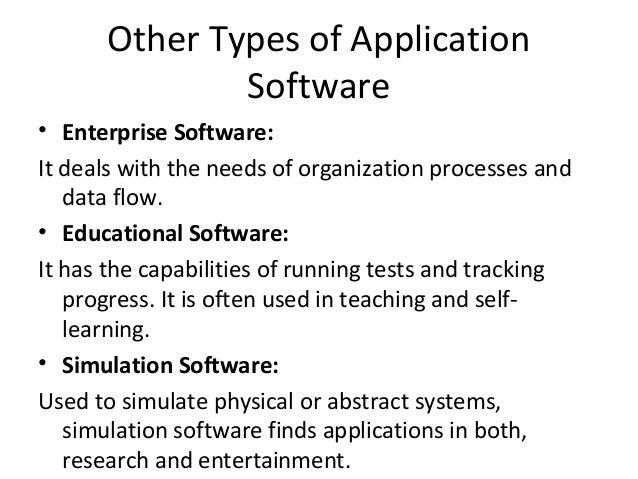 what are the different types of healthcare software