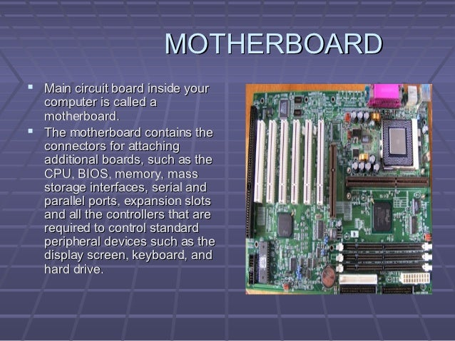 Computer Hardware Component Ppt