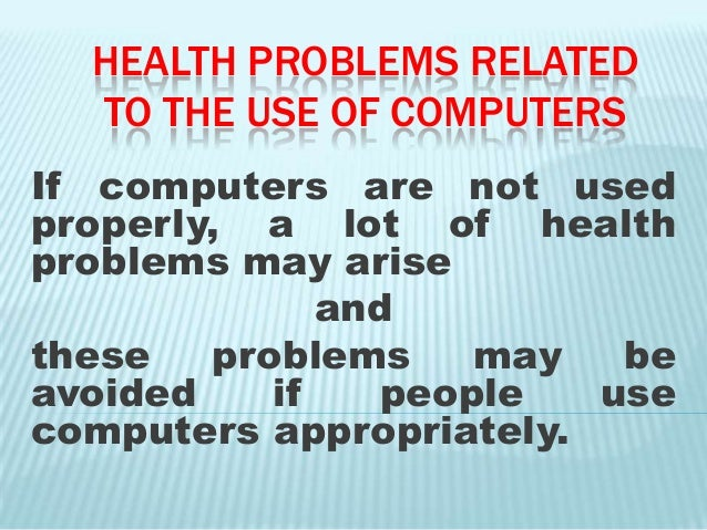 Computer health & safety issues