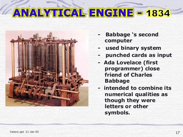why did charles babbage invent the computer