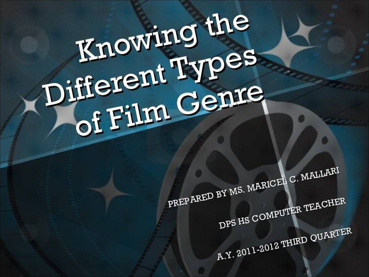 Knowing the Different Types of Film Genre PREPARED BY MS. MARICEL C. MALLARI DPS HS COMPUTER TEACHER A.Y. 2011-2012 THIRD ...