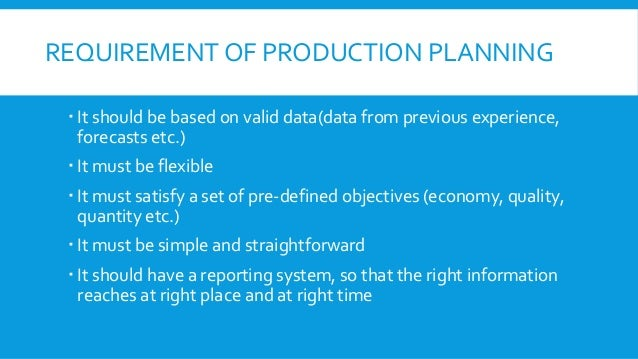 Computer Integrated Production Planning System