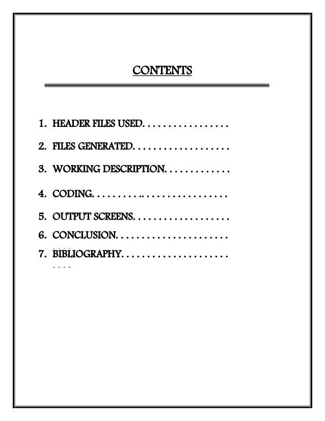 what is bibliography format in a project