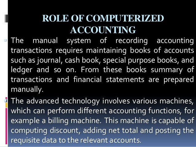 Manual Books Of Accounts