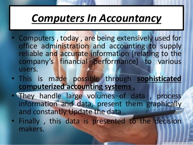 Computerized Applications In Accounting