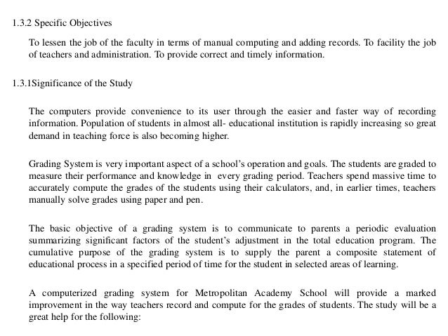 what is the significance of grading sysytem essay The following is an excerpt from my upcoming book, 'tween crayons and curfews: tips for middle school teachers in this chapter, titled, tips for dealing with the grading and feedback masses, i provide an insight into my own grade book and give advice on how to cut down on the stack of papers and.