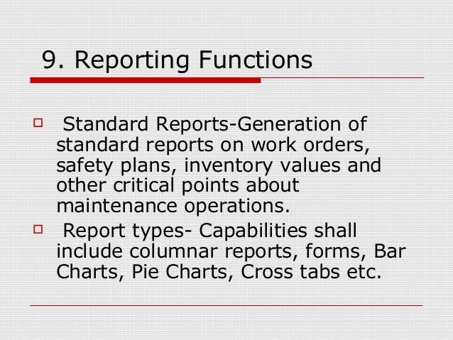 Computerized Maintenance Management System Cmms