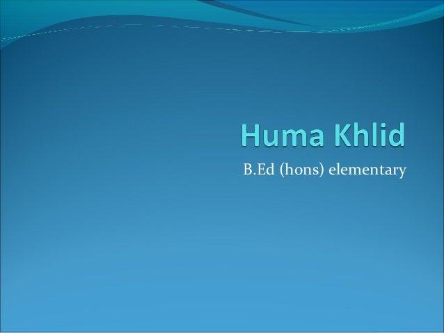 B.Ed (hons) elementary