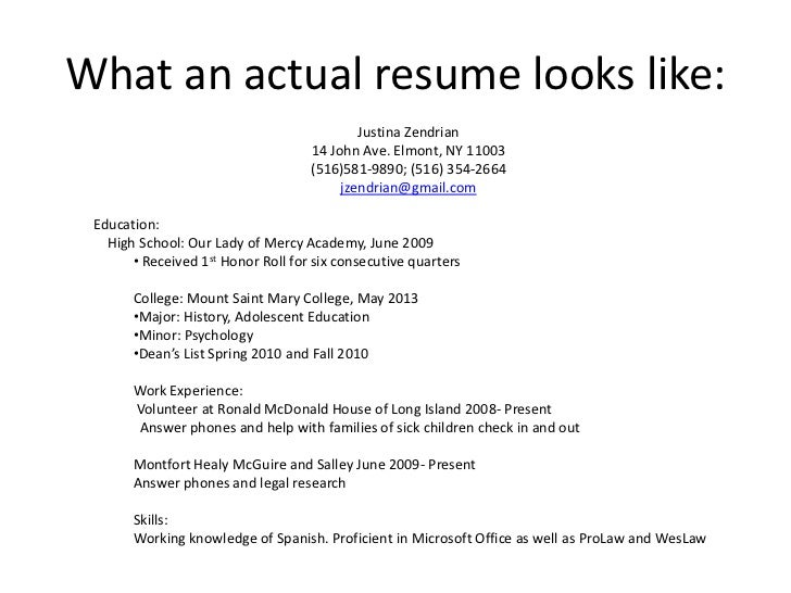 U003cbr /u003e; 6. What An Actual Resume Looks ...  How A Resume Looks