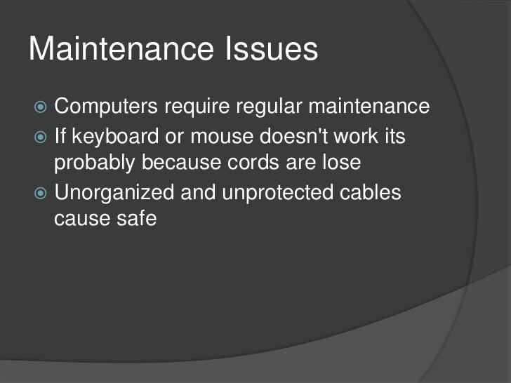 Computer maintenance Slide 2
