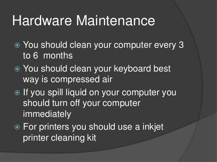 Computer maintenance Slide 3