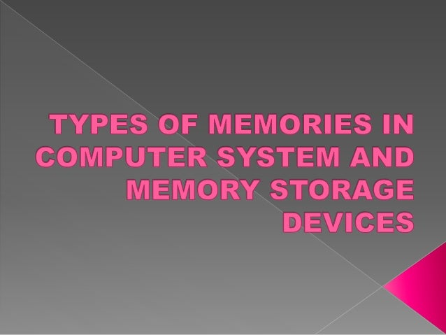 In computing memory refers to the physical devices used to store programs (sequences of instructions) or data (e.g. progra...