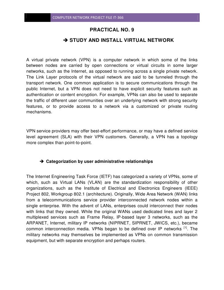 a report on networking computers Installation of and design of a computer data network system the types of data served by the network will be reports, bulletins, accounting information.