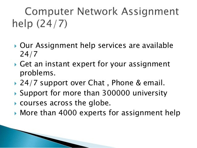 network assignment We provide computer network assignment help by experts gets assistance on  computers network assignment writing services, check our 24/7 online cn.