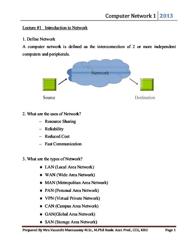 Networks pdf introduction to computer