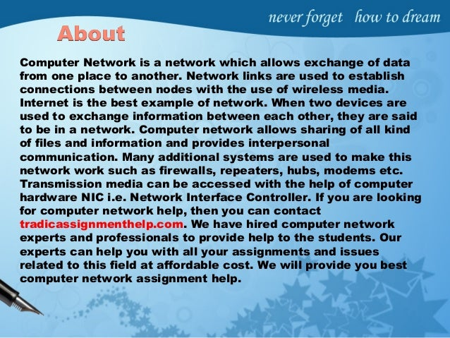 network hardware essay Introduction to computer networking prof teodora bakardjieva 2 10 introduction the purpose of the networking guidelines are as follows: to assist students in understanding the benefits of networking to help students place in context their current stage of networking development in their school to assist students in planning the next stage of network.