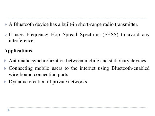 bluetooth in computer networks pdf