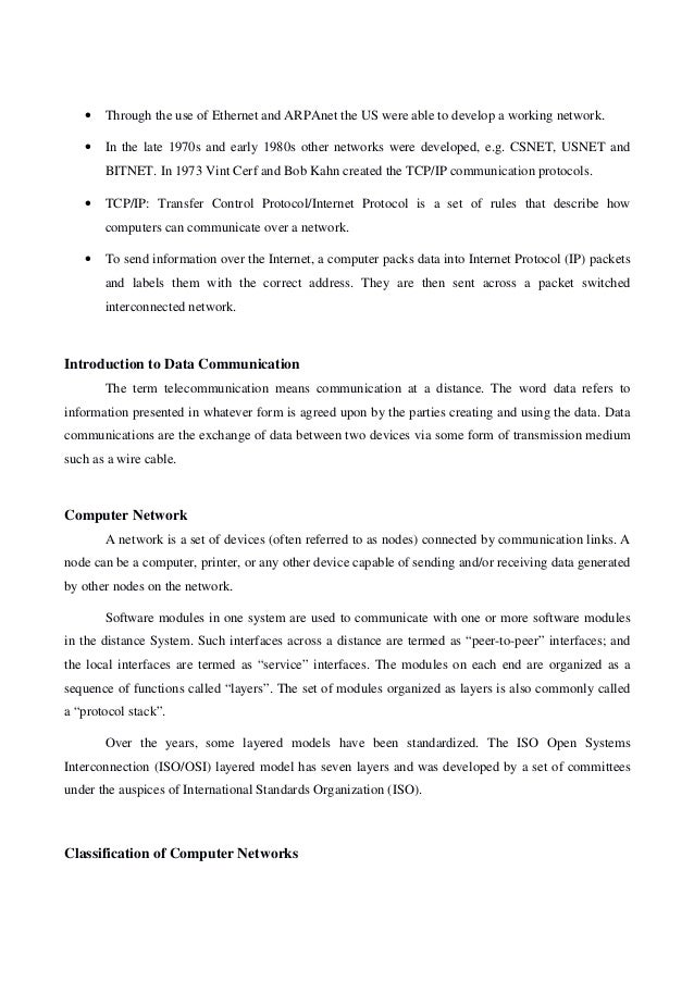 Computer Networks Lecture Notes