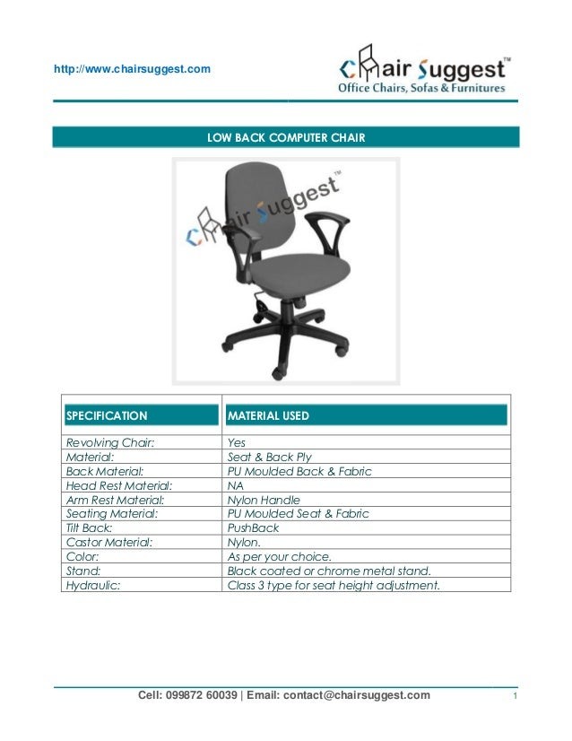 computer office chairs manufacturing repairing of all type of offic