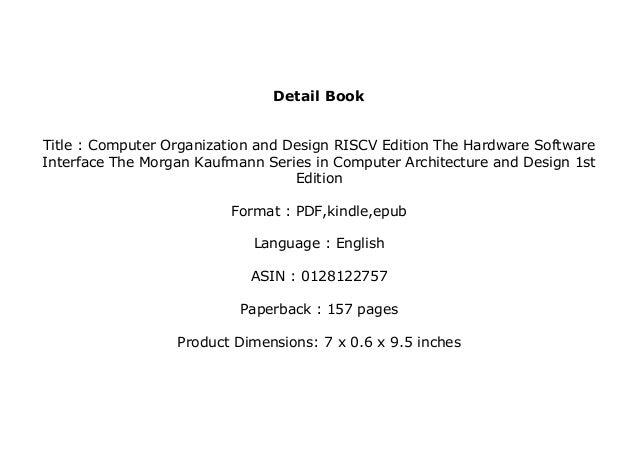 Download P D F Computer Organization And Design Riscv Edition
